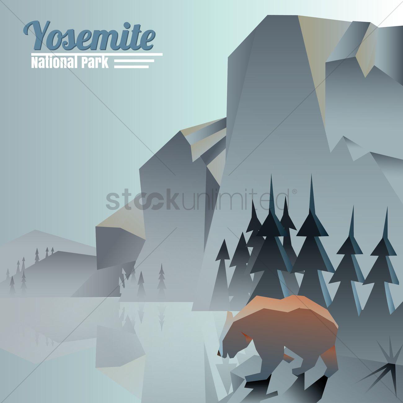 1300x1300 Yosemite National Park Vector Image