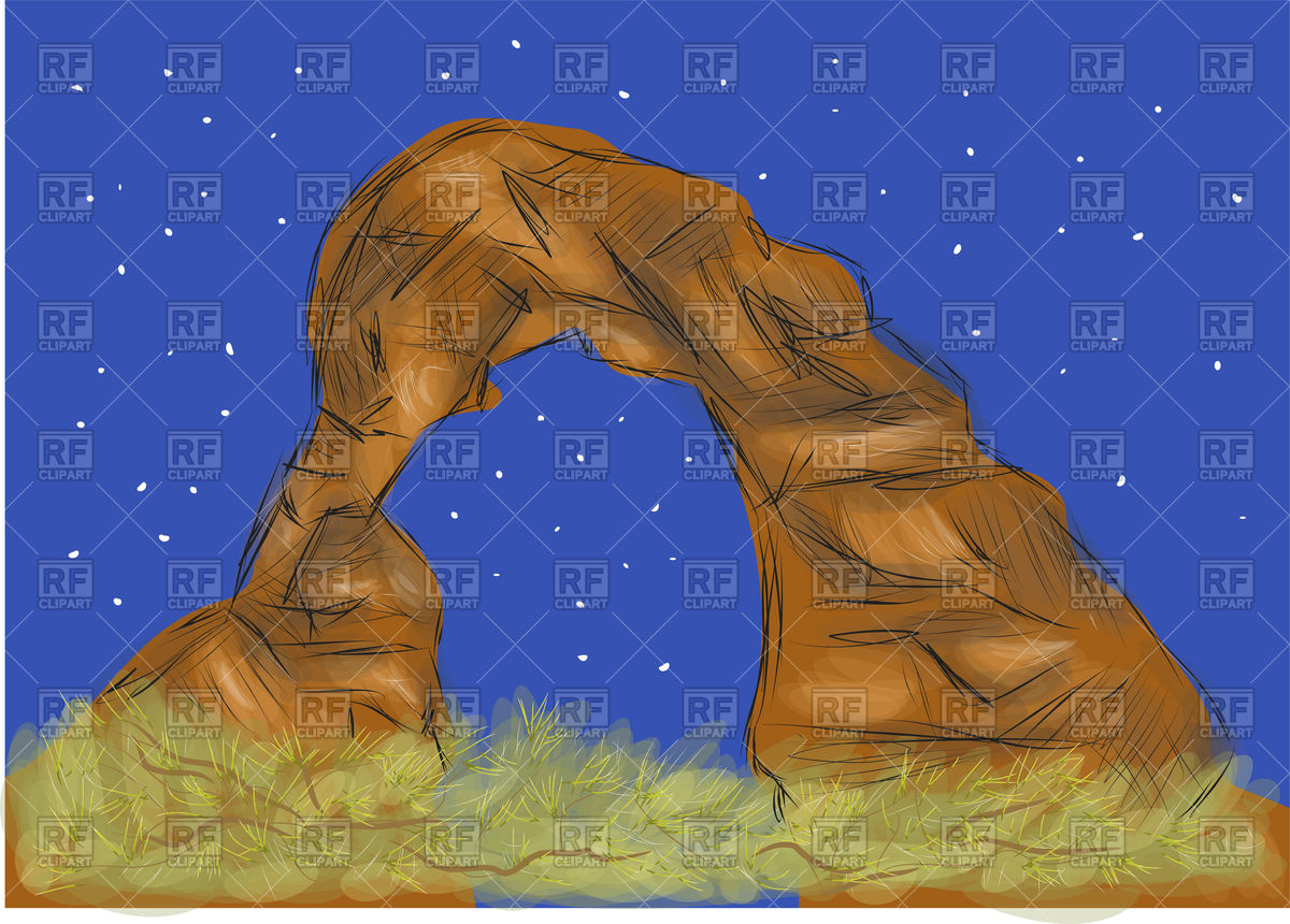 1200x860 Arches National Park, Rock In Strange Form Vector Image Vector