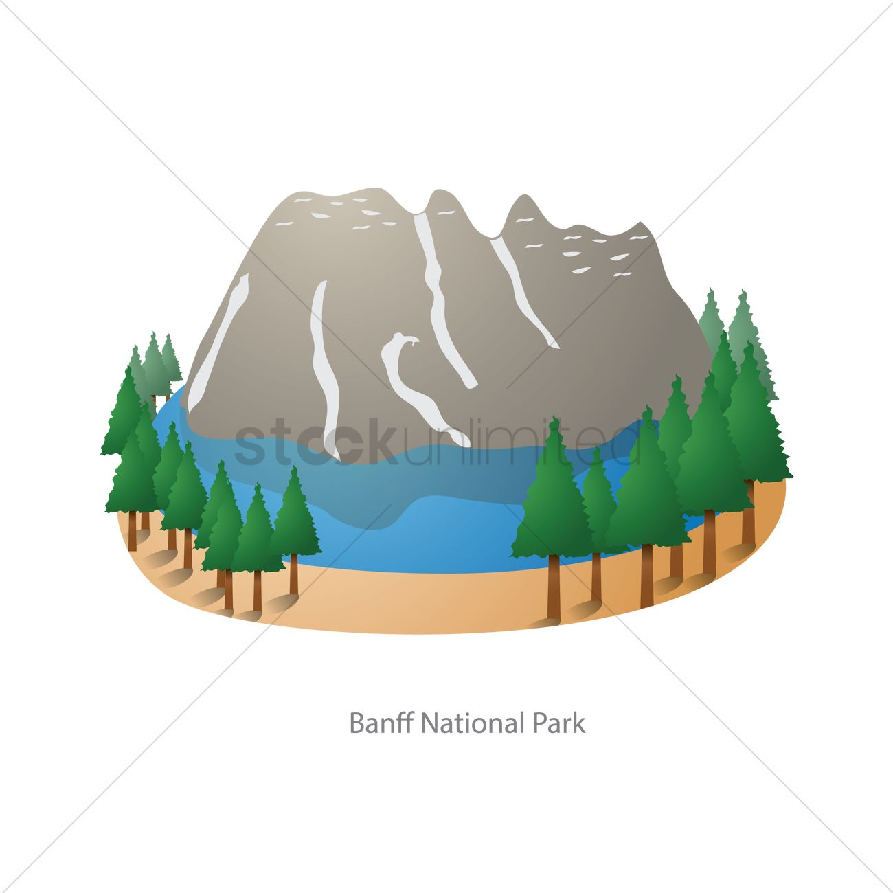 1300x1300 Banff National Park Vector Image
