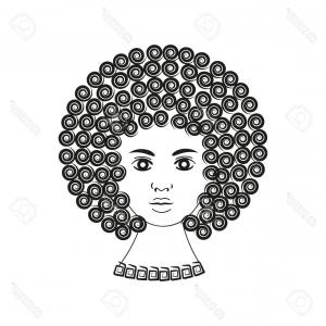 300x300 Stock Illustration African American Girl Natural Hair Sexy Image