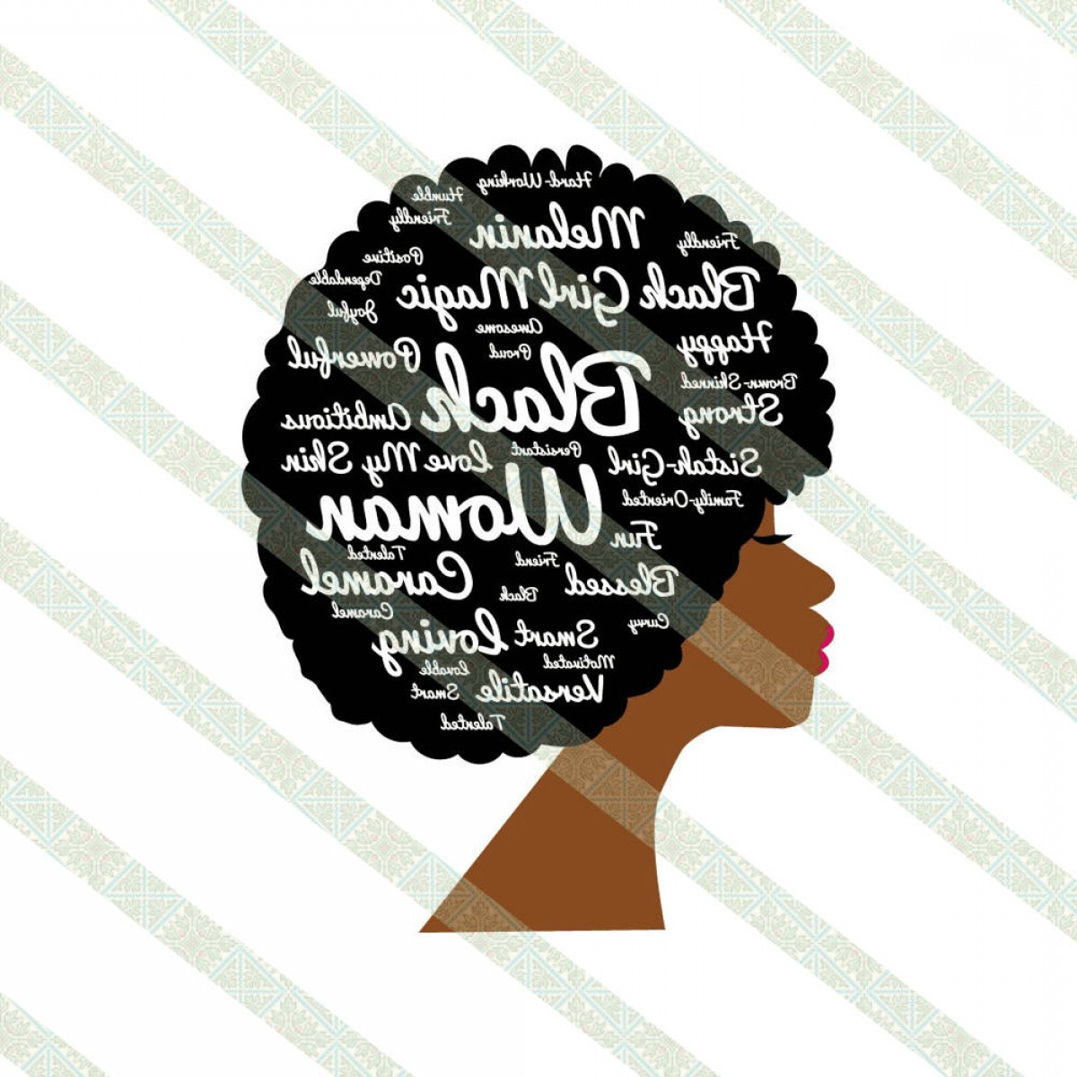 1200x1200 Words In Natural Hair Afro Svg Dxf Jpeg Geekchicpro