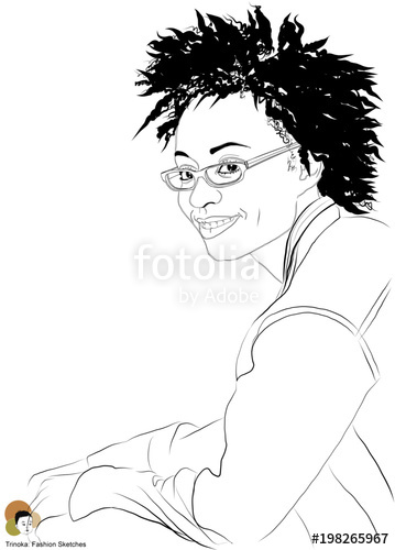 359x500 African American Woman With Natural Hair Stock Image And Royalty