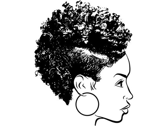 570x429 Black Woman Natural Hair African American Lady Nubian Queen Etsy