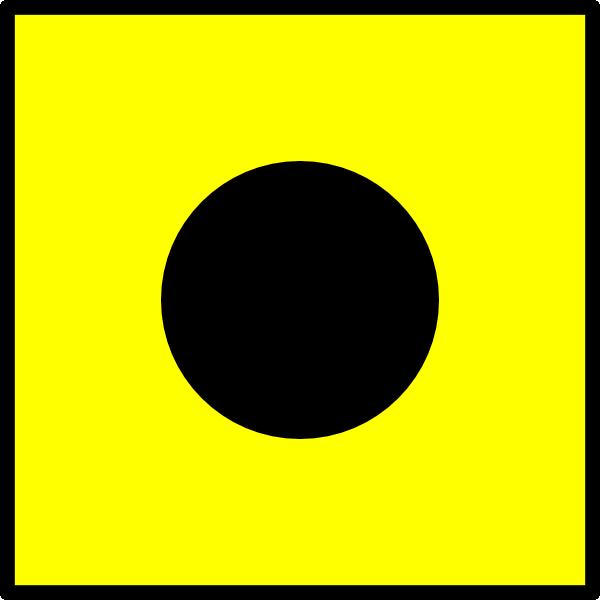 600x600 International Maritime Signal Flag India Clip Art Free Vector