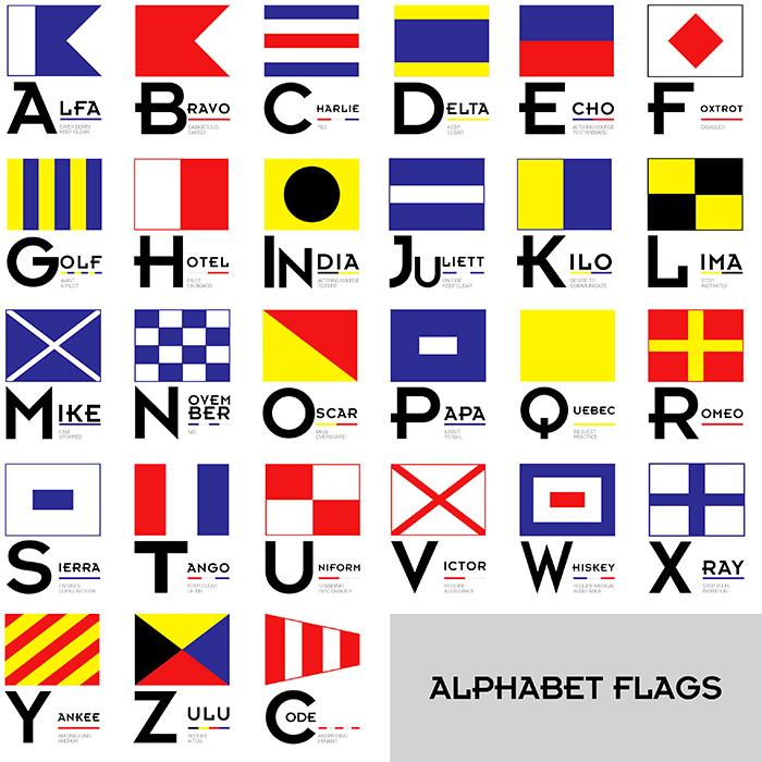 700x700 Nautical Flags Vector Free