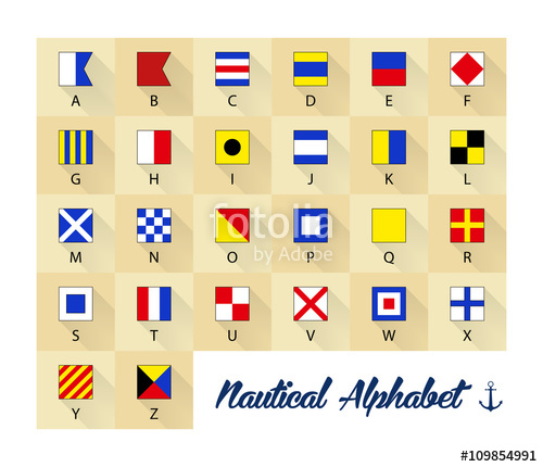 500x430 Nautical Flags Alphabet Stock Image And Royalty Free Vector Files
