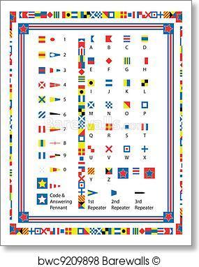 285x382 Art Print Of Eps8 Vector Nautical Flags And Bord Barewalls