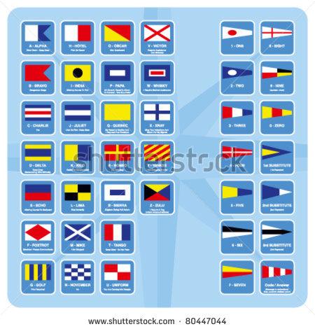 450x470 Sailing Flags Clipart