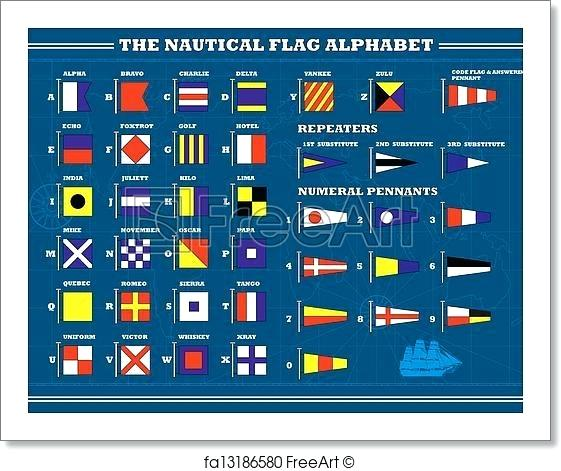 561x471 Vintage Nautical Flags A Complete Vector Set Of Nautical Flags For