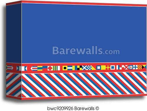 498x379 Canvas Print Of Eps8 Vector Nautical Flag Border Barewalls