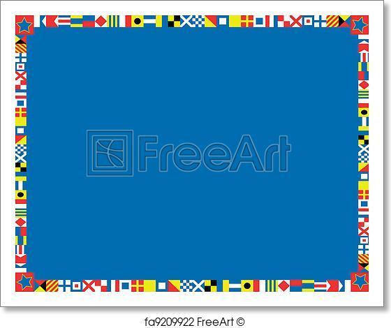560x470 Free Art Print Of Eps8 Vector Nautical Flag Border. Eps8 Vector