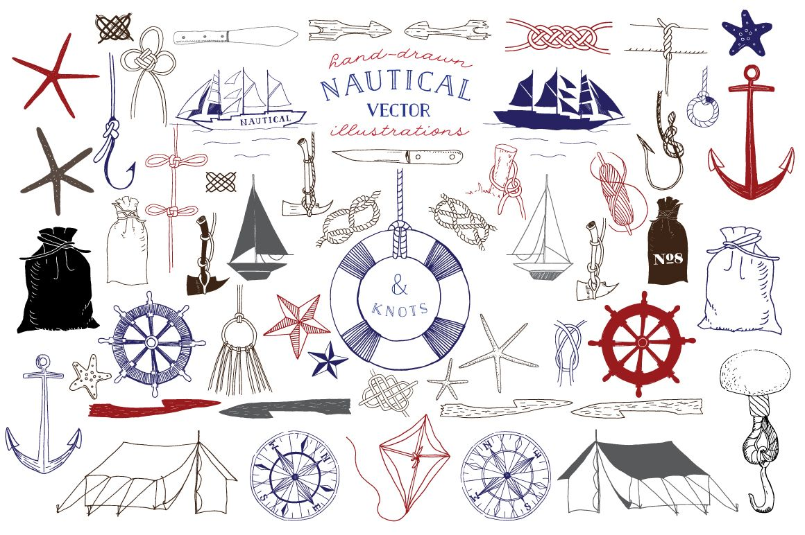 1160x772 Nautical Amp Knot Vector Illustrations By Becky Nimoy On Creative