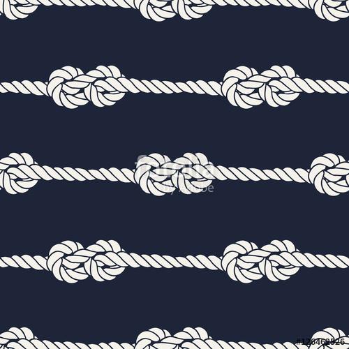 500x500 Seamless Nautical Rope Pattern
