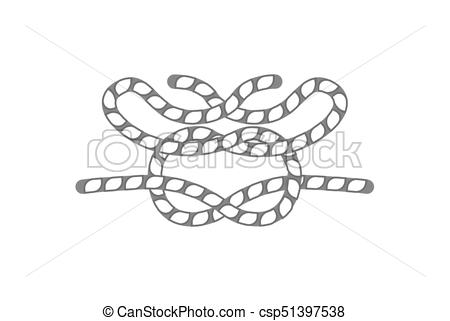 450x321 Nautical Rope Knot Isolated Vector Icon. Nautical Rope Knot Icon