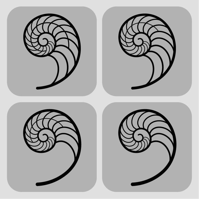 793x793 Fibonacci Spiral Designs By Karianne Hutchinson Illustration