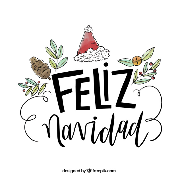 626x626 Hand Drawn Feliz Navidad Lettering Background Vector Free Download