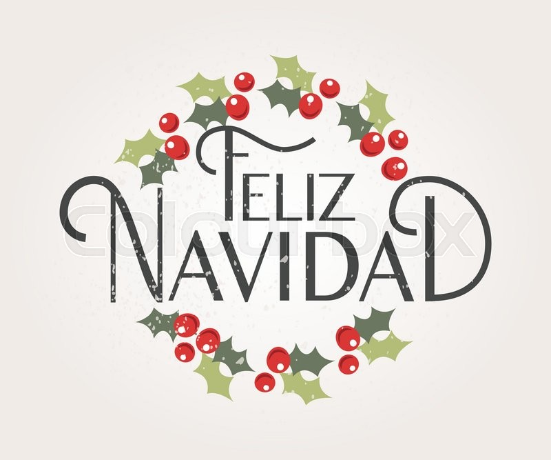 800x667 Hand Sketched Feliz Navidad (Happy New Year In Spanish) Logotype