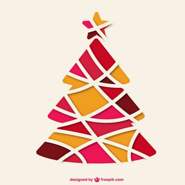 626x626 Abstract Christmas Tree Vector Free Download