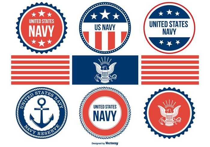 700x490 Assorted Navy Badges Collection