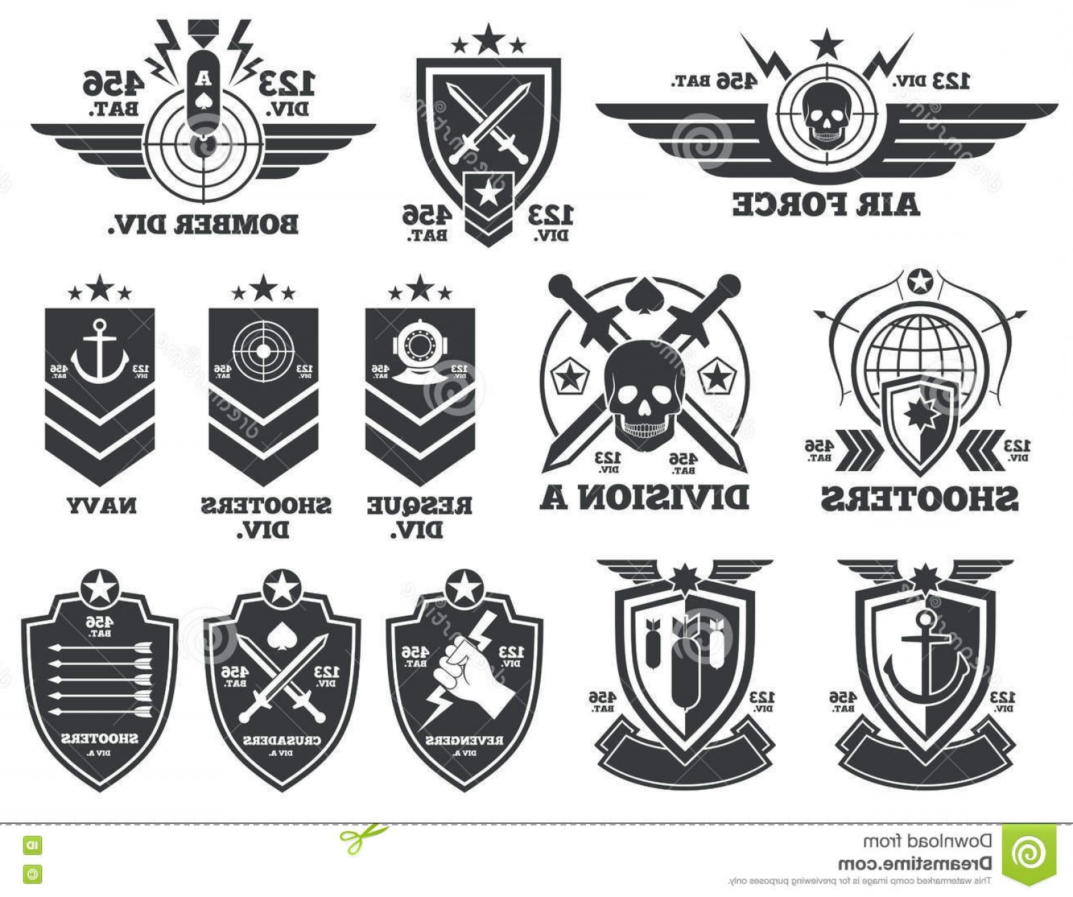 1560x1304 Easy Military Logos Vector Army Navy Air Force Marines Coast Guard