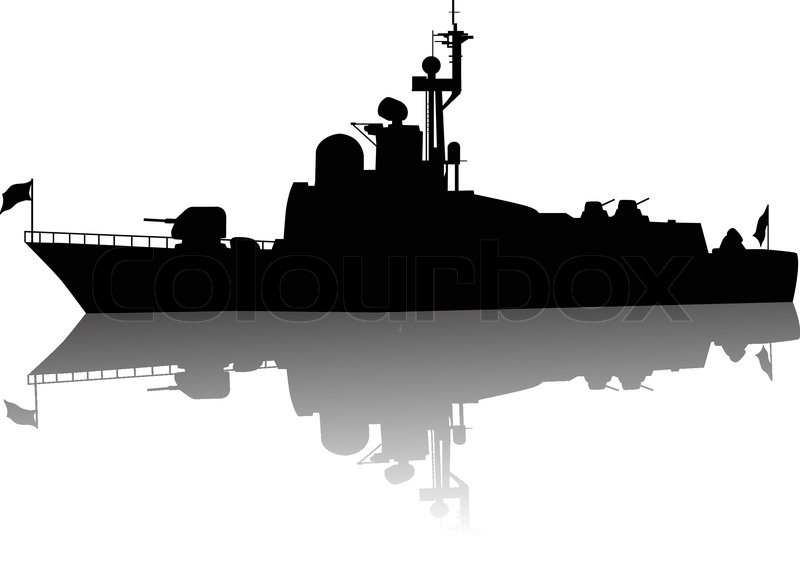 800x564 High Detailed Ship Silhouette Stock Vector Colourbox