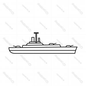 300x300 Military Navy Ship Icon Outline Style Orangiausa