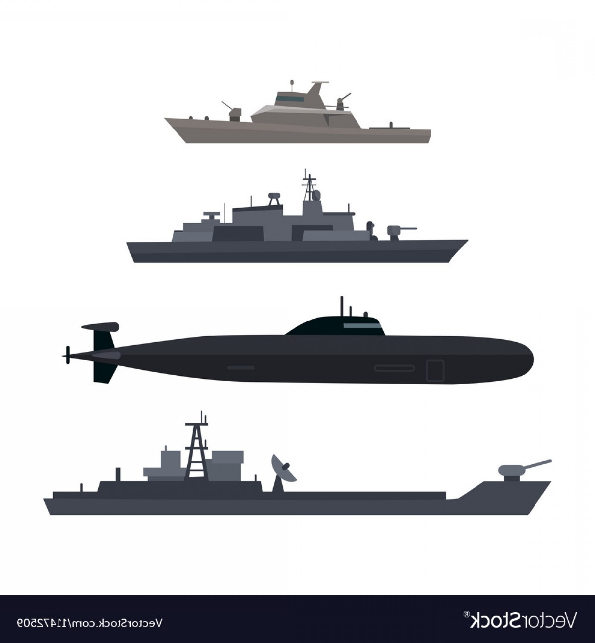 1200x1296 Naval Ships Set Military Ship Or Boat Used By Navy Vector