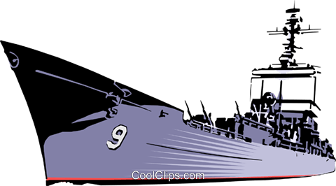 480x266 Naval Ship Royalty Free Vector Clip Art Illustration Mili0007