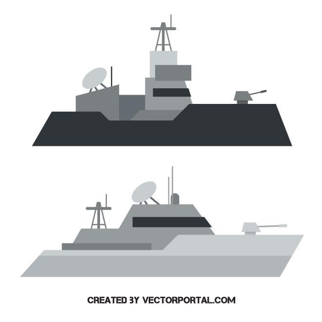 660x660 Warship Vector Image
