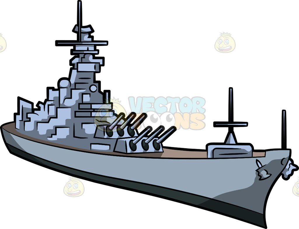 1024x784 A Naval Warship Clipart By Vector Toons