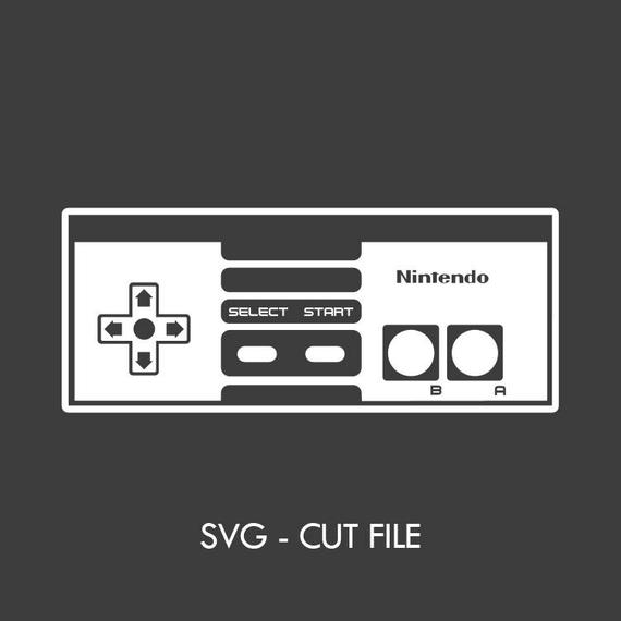 570x570 Nintendo Nes Controller Svg Vector Cut File Etsy