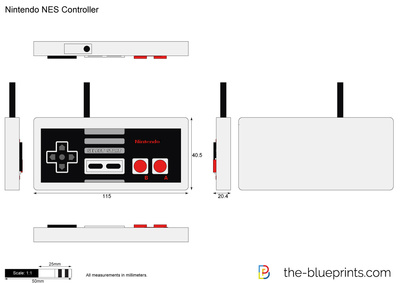 400x283 Nintendo Nes Controller Vector Drawing