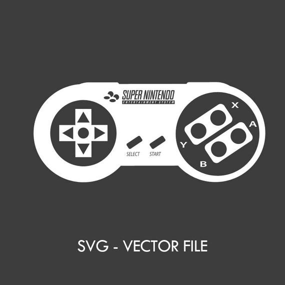 570x570 Nintendo Snes Controller Svg Vector File Etsy