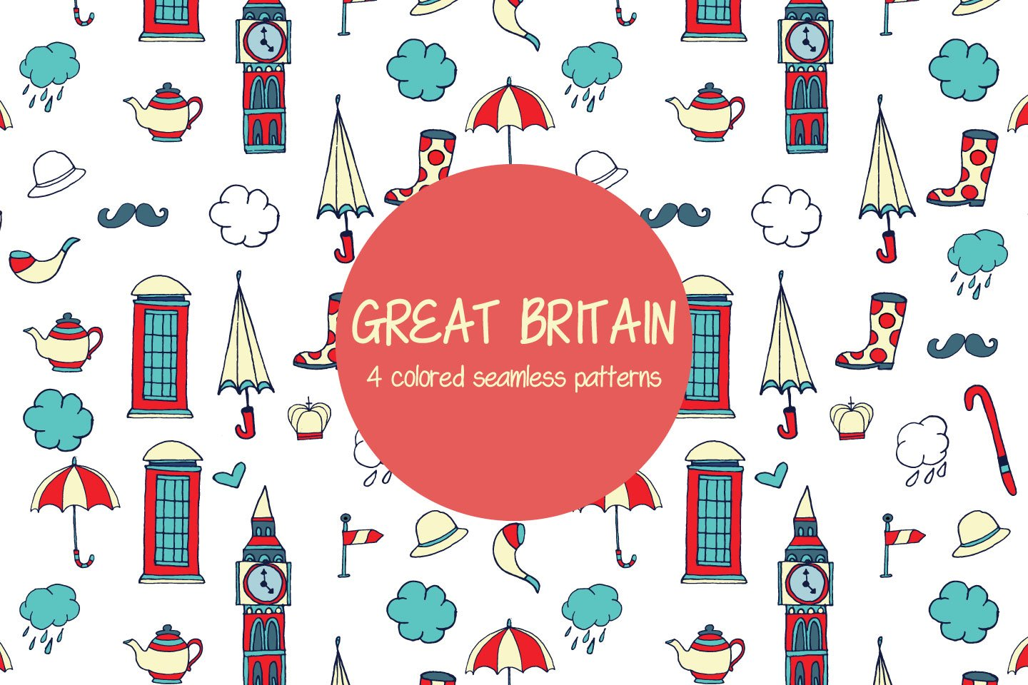1440x960 Great Britain Vector Free Pattern