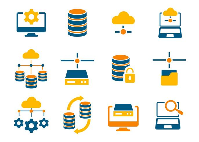 686x490 Free Database And Network Icons Vector