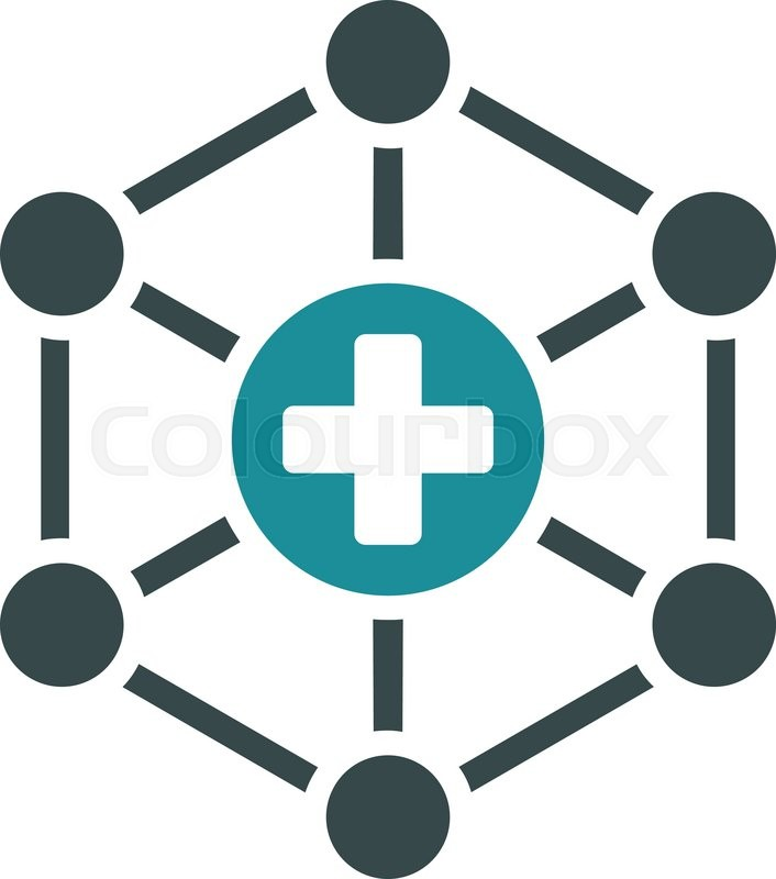 706x800 Medical Network Vector Icon. Style Is Bicolor Flat Symbol, Soft