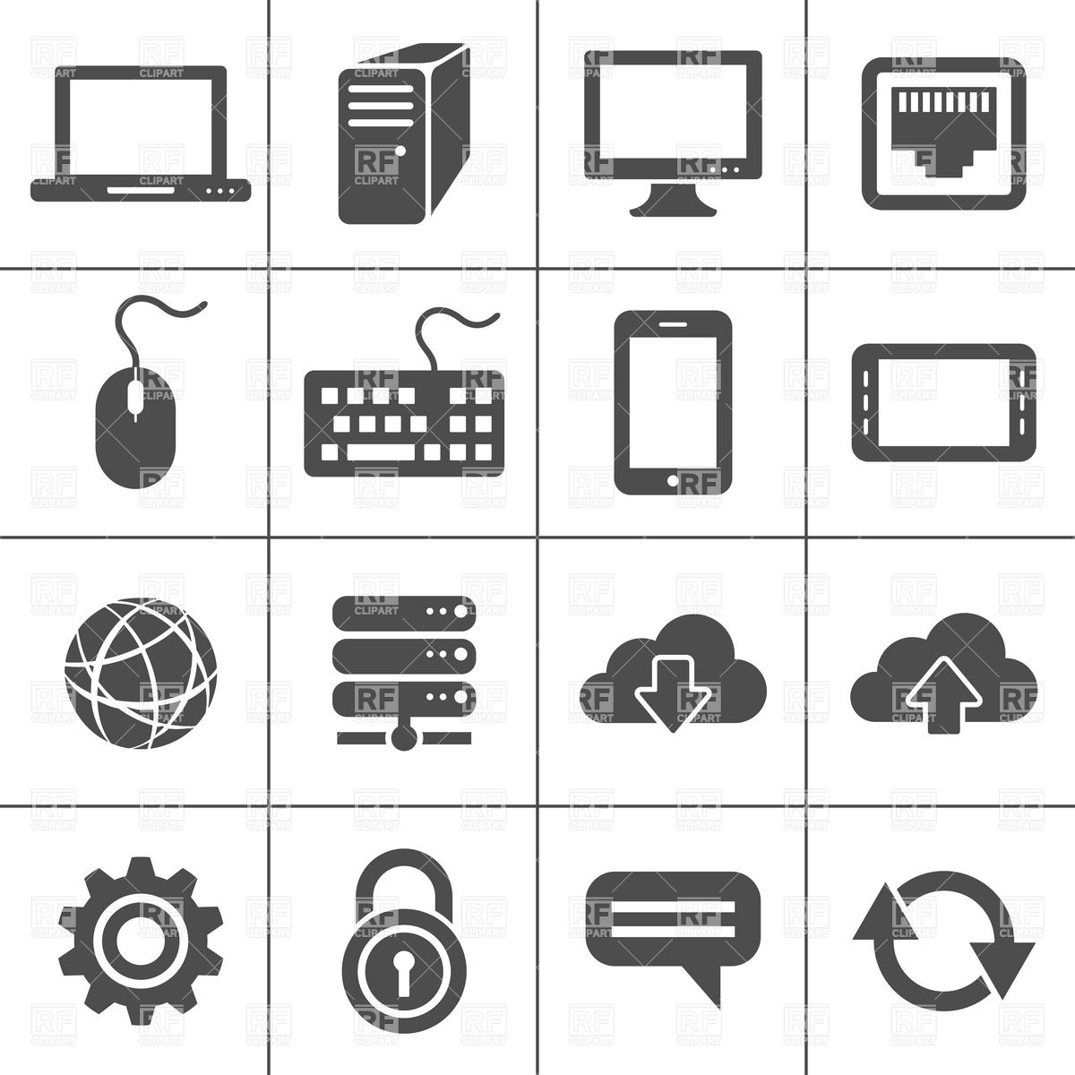 1200x1200 Network And Mobile Devices, Simplus Icons Series Vector Image