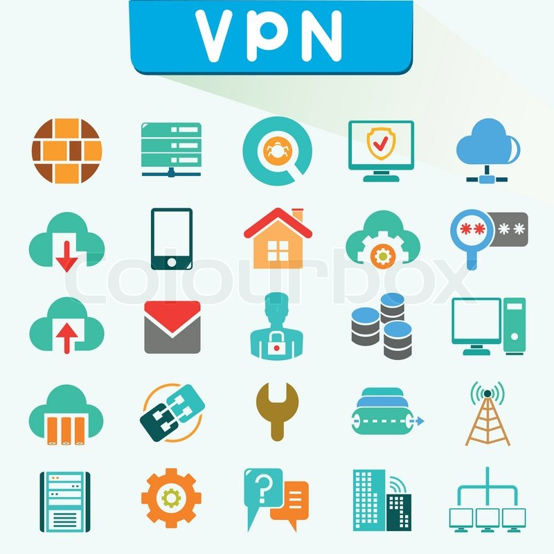800x800 Vpn Icons, Virtual Private Network Icons Stock Vector Colourbox