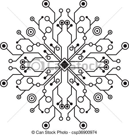 449x470 Vector Design Of Abstract Modern Digital Network.
