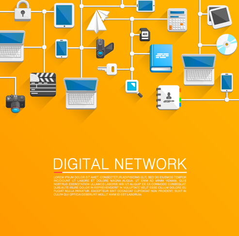 493x488 Digital Network Vector Background Free Download