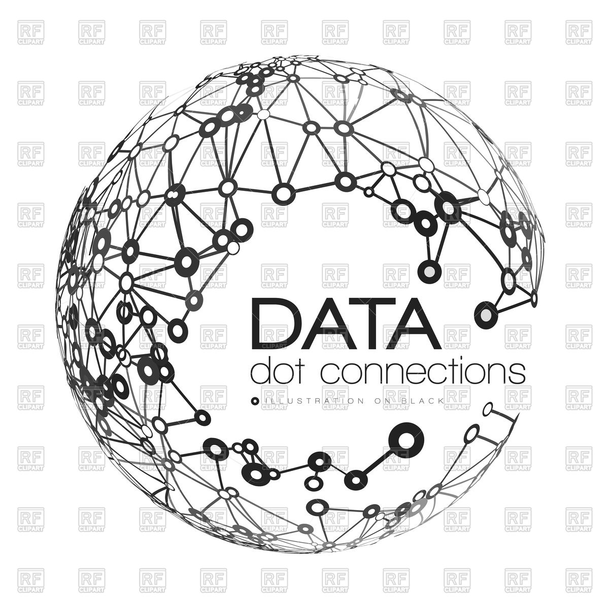 1200x1200 Abstract Network Connection With Globe Vector Image Vector