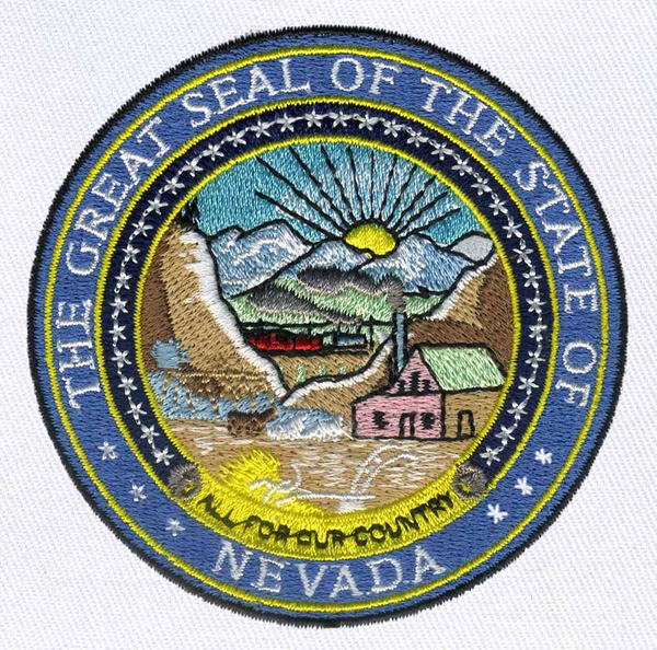 600x594 Nevada State Seal Embroidery Designs, Machine Embroidery Designs