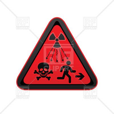 400x400 Ionizing Radiation Warning Symbol, New Un Radiation Sign Vector