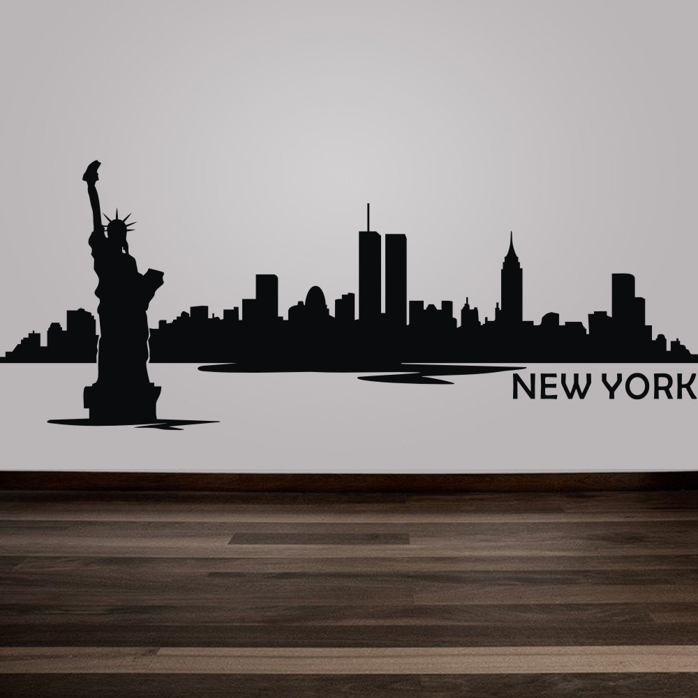 1000x1000 Relieving New York City Skyline Silhouette Svg New York City
