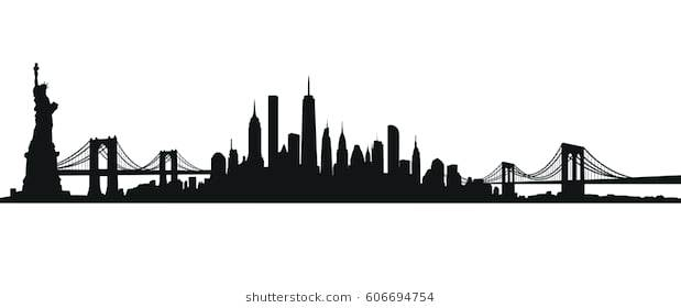 619x280 New York Silhouette World Trade Center New City New York State