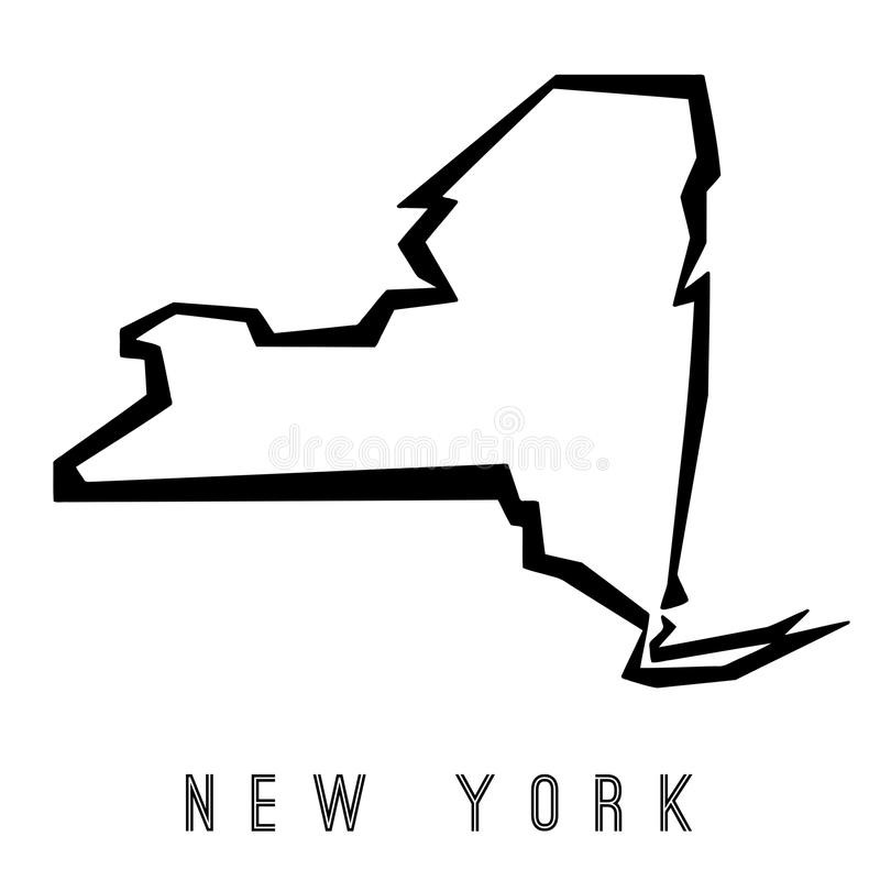 800x800 New York State Map Outline New York State Map Silhouette Free