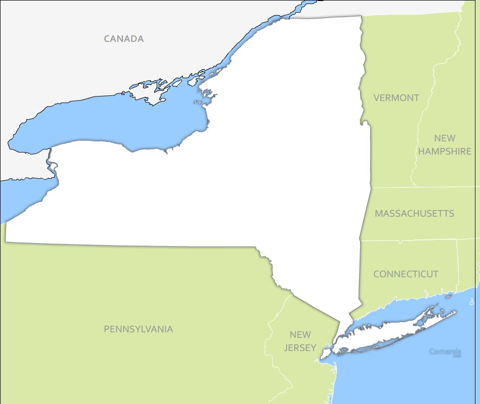 950x800 New York Vector Map Free Free Vector Map Of New York State Usa 950