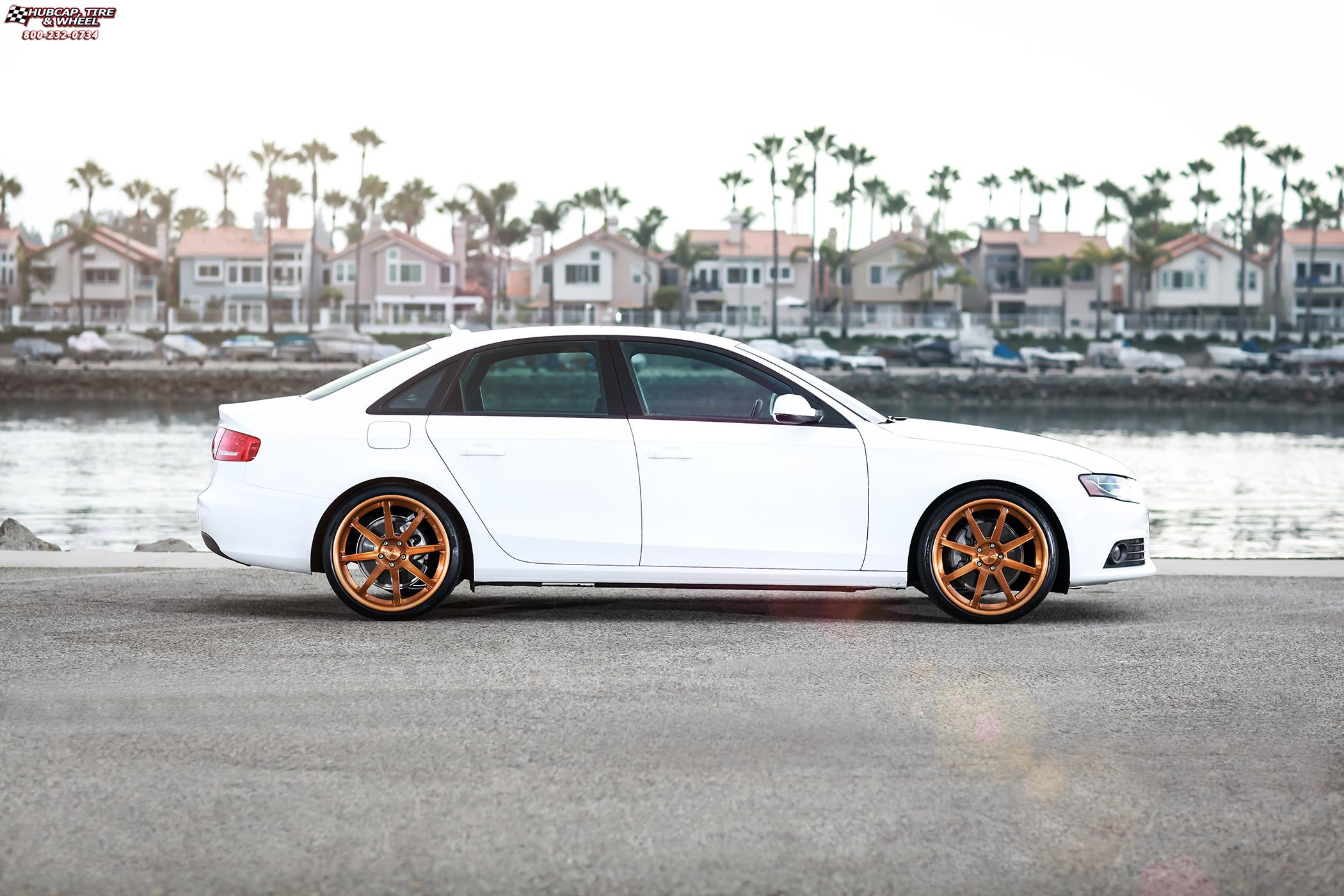 2100x1400 Audi S4 Niche Vector Wheels Textured Bronze Chrome Lip Raw Inner
