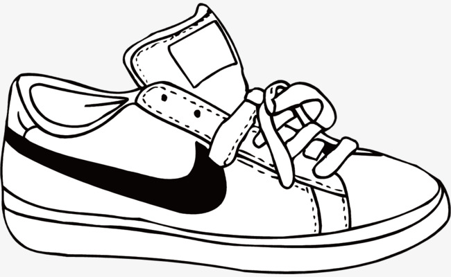 650x400 Vector Hand Painted Shoes Nike, Shoes Vector, Lovely, Popular Png