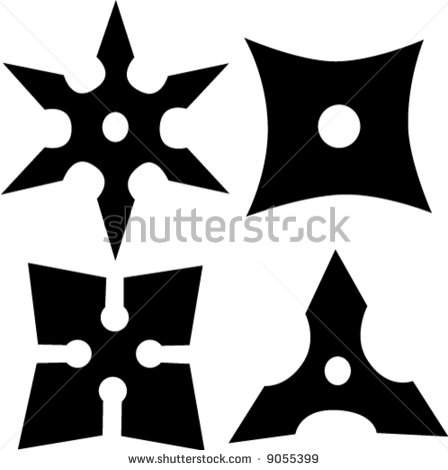 448x470 12 Throwing Star Clip Art Vector Images